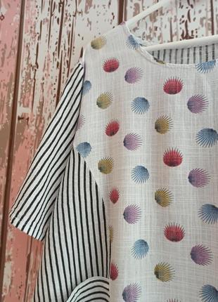 Блуза в полоску с карманами3 фото