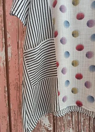 Блуза в полоску с карманами5 фото
