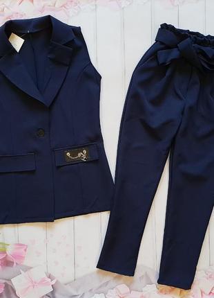 Стильный костюм кардиган и брюки-слоучи