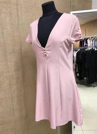 Летняя распродажа 🔥🔥🔥 нюдовое мини платье с пуговицами