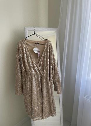 Шикарнейшее платье в пайетку большого размера !