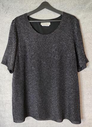 Блуза- туніка з люрексом, преміальний бренд marina rinaldi, l, xl