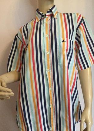 Качественная фирменная мужская рубашка/m/ brend claudio campione