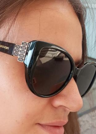 Стильные очки антиблик поляризация polarized swarovski очки кошки очки лисички2 фото