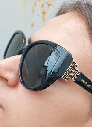 Стильные очки антиблик поляризация polarized swarovski очки кошки очки лисички3 фото