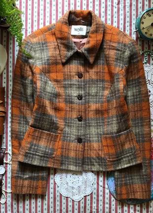 Пиджак шерсть в клетку англия wallis размер 12