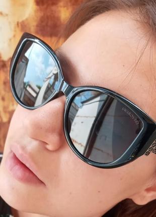 Стильные очки антиблик поляризация polarized swarovski очки кошки очки лисички10 фото
