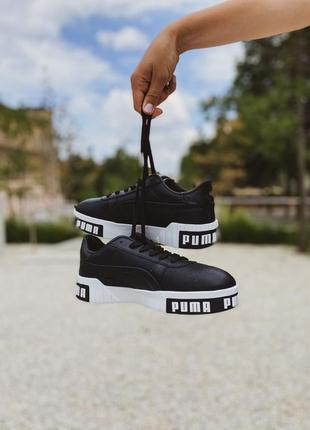 Puma cali    низькі чорні кросівки по типу кед