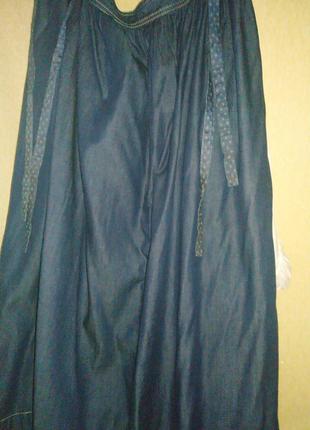 Iblues club джинсовая юбка в пол