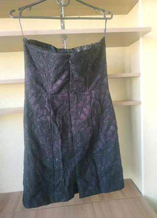 Вечернее котельное кружевное мини платье бюстье с открытыми плечами5 фото