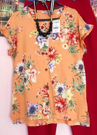 Новая футболка в цветы