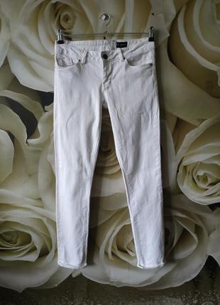 Джинсы белые базовые белые котоновые штаны