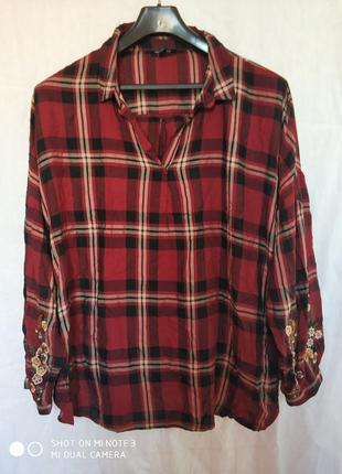 Рубашка,new look curves,28 размер.