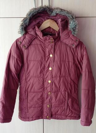 Куртка для девочки демисезонная рост 140см возраст 10-11лет тепленькая)