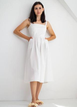 Платье сарафан миди из хлопка/бавовняна сукня міді