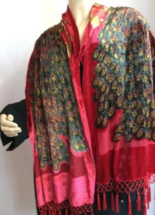 Шикарный елегантный шарф с декором  шелк- вискоза
