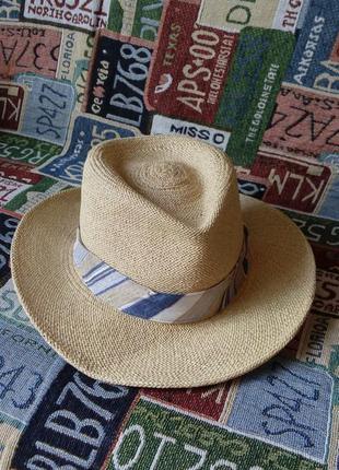 Брендовая шляпа панама  из соломы/ mayser/56р/100%натуральная солома /унисекс/ручная работа ecuador