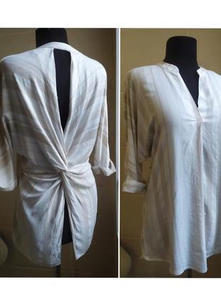 Крутая блуза с полуоткрытой спиной, ткань натуральная