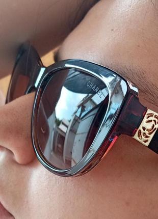 Стильные итальянские очки кошки очки лисички коричневые аккуратные очки с градиентом италия