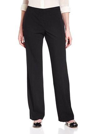 Классические прямые черные брюки на высокий рост, батал р.24