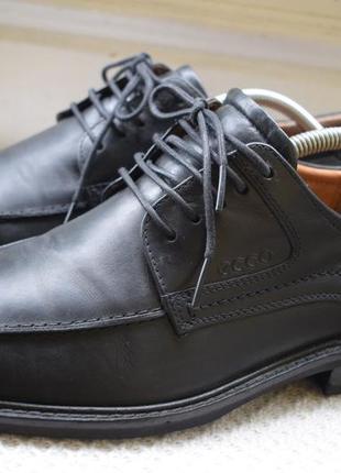 Кожаные туфли мокасины ecco р.42 28 см