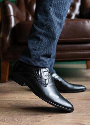 Натуральная кожа! мужские туфли классика2 фото