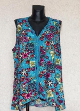 Легкая натуральная блуза 22р