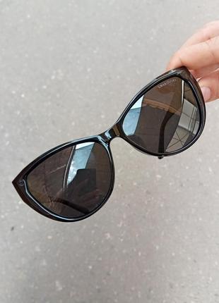 Стильные чёрные очки кошки очки лисички swarovski polarized антиблик стиль одри хепбёрн7 фото