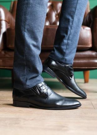 Натуральная кожа! мужские туфли классика3 фото