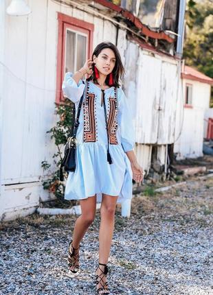 H&m desigual boho chic абслютная тор туника платье с вышивкой распродана missoni