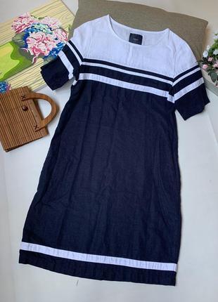 Платье льняное next