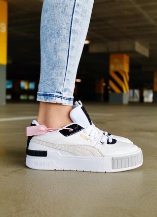 Кроссовки puma cali sport black white пума кали женские обувь взуття