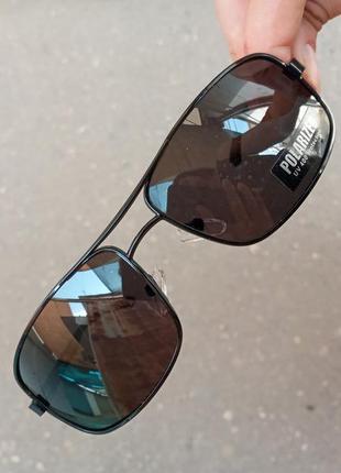 Стильные классические актуальные небольшие э универсальные очки алюминиевый корпус polarized антиблик2 фото