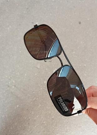 Стильные классические актуальные небольшие э универсальные очки алюминиевый корпус polarized антиблик