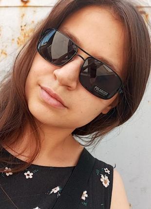 Стильные классические актуальные небольшие э универсальные очки алюминиевый корпус polarized антиблик5 фото