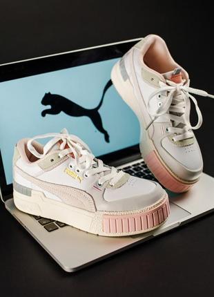 Puma cali beige кроссовки пума кали женские обувь взуття