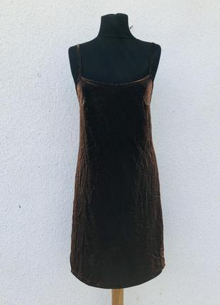 Нарядное вечернее коктейльное платье на бретели4 фото