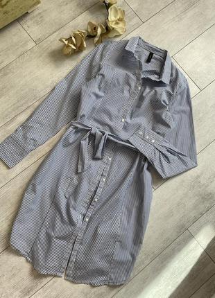 Фирменное платье рубашка хлопковое