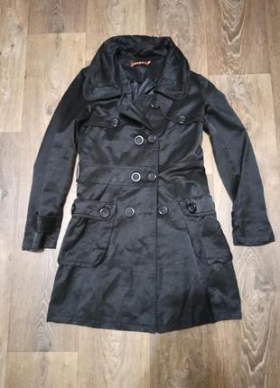 Пальто hxgl женское чёрное черное чорне жіноче осенние весенние на осень весну красивое стильное осіннє весняне осінь