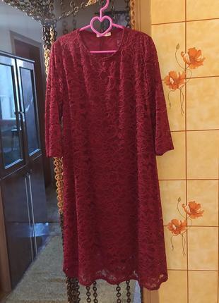 Платье. темно-бордового цвета.