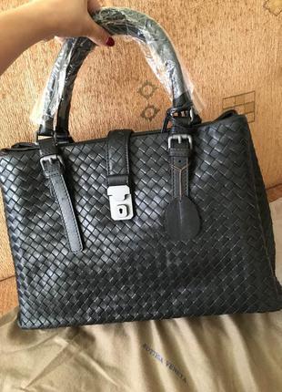 Кожаная сумка bottega venetta