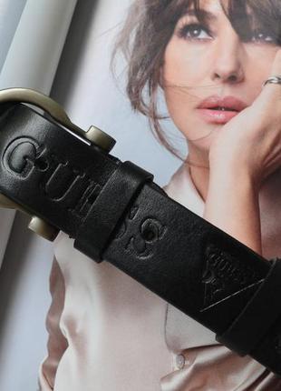 Ремень женский кожаный черный в стиле guess / ремінь пояс жіночий ✨💜