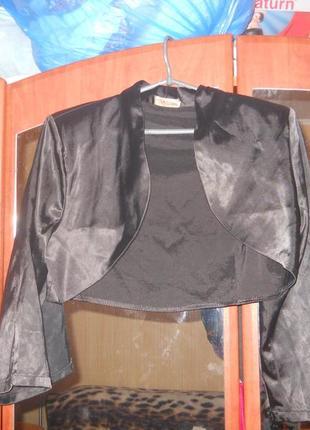 Короткий пиджачок из атласа