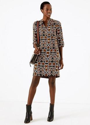 Платье принт леопард, жираф m&s