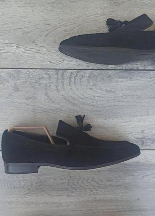 Dune london мужские классические туфли лоферы замшевые черные оригинал 42 размер