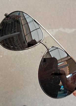 Стильные достаточно крупные очки авиаторы капли polarized антиблик унисекс5 фото