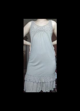 Летнее платье/сарафан с оборкой и узором безрукавка ретро