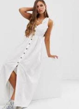 Шикарное пышное хлопковое платье