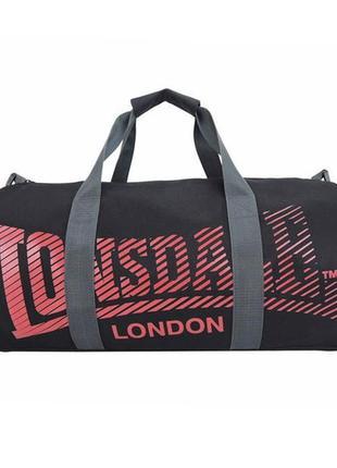 Спортивная сумка lonsdale barrel bag black/red