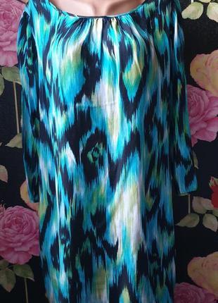 Платье свободного кроя вискоза с принтом р 44 46